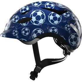 ABUS Anuky Fietshelm Kinderen, blue soccer